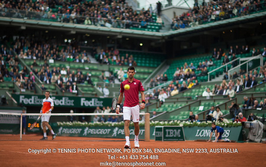 NOVAK DJOKOVIC (SRB)<br /> <br /> TENNIS - FRENCH OPEN - ROLAND GARROS - ATP - WTA - ITF - GRAND SLAM - CHAMPIONSHIPS - PARIS - FRANCE - 2016  <br /> <br /> <br /> <br /> &copy; TENNIS PHOTO NETWORK