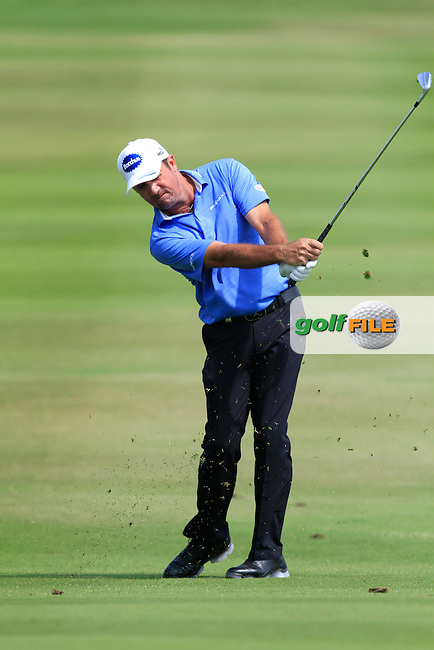 Scott Hend (AUS) on the 9th fairway during Round 4 of the True Thailand Classic at the Black Mountain Golf  Club on Sunday 15th February 2015.<br /> Picture:  Thos Caffrey / www.golffile.ie