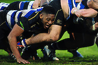 Levi Douglas of Bath United in action at a scrum. Aviva A-League match, between Bath United and Wasps A on December 28, 2016 at the Recreation Ground in Bath, England. Photo by: Patrick Khachfe / Onside Images