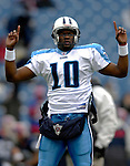 24 December 2006: Tennessee Titans quarterback Vince Young warms up prior to a game against the Buffalo Bills at Ralph Wilson Stadium in Orchard Park, New York. The Titans edged out the Bills 30-29.&amp;#xA; &amp;#xA;Mandatory Photo Credit: Ed Wolfstein Photo<br />