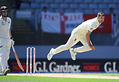 25th March 2018, Auckland, New Zealand;  James Anderson bowling.<br /> New Zealand versus England. 1st day-night test match. Eden Park, Auckland, New Zealand. Day 4
