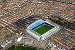 Football grounds from the air Aerial view of Goodison Park, Everton FC