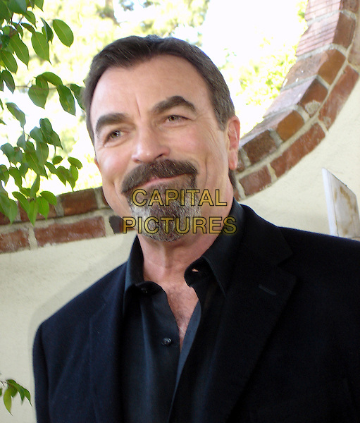 "TOM SELLECK.Photocall for ""Jesse Stone: Thin Ice"", Beverly Hilton, Dayton Room, Los Angeles, California, USA..March 12th, 2009.headshot portrait black goatee facial hair  .CAP/AW.©Anita Weber/Capital Pictures."