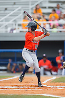 Aaron Mizell (10) of the Greeneville Astros at bat against the Kingsport Mets at Hunter Wright Stadium on July 7, 2015 in Kingsport, Tennessee.  The Mets defeated the Astros 6-4. (Brian Westerholt/Four Seam Images)