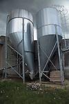 Steel grain silos, Suffolk, England