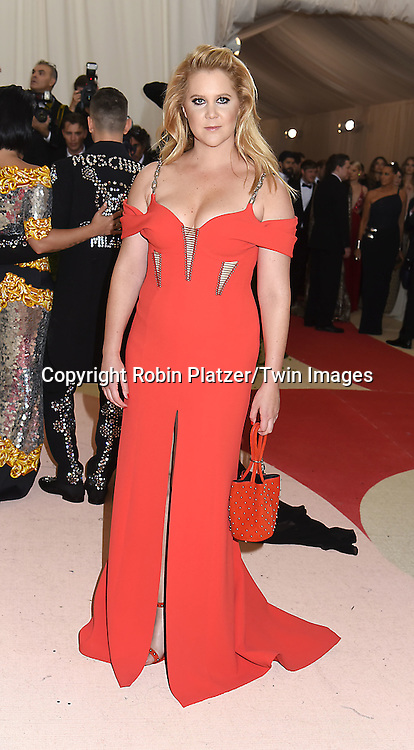 Amy Schumer attends the Metropolitan Museum of Art Costume Institute Benefit Gala on May 2, 2016 in New York, New York, USA. The show is Manus x Machina: Fashion in an Age of Technology. <br /> <br /> photo by Robin Platzer/Twin Images<br />  <br /> phone number 212-935-0770