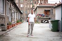 Italy / Lombardia / Milano / 28.9.2010 / Abdelaziz Shaltout, 26 years old, from Egypt. He is in Italy since 2003 and he is working as mason in Milan where he lives with his uncle, his cousin and his brother.<br />