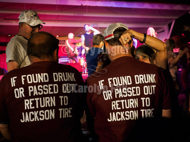 Jackson Tire Service humorous T-shrits: <br /> <br /> &quot;If found truck or passed out return to Jackson Tire&quot;<br /> <br /> Foreigner Unauthorized tribute band performing during Saturday, Day 3 of the 79th Amador County Fair, Plymouth, Calif.<br /> <br /> Local cowboy ranch rodeo, livestock beauty pageant, youth tractor rodeo, Mutton Bustin' finals<br /> <br /> <br /> #AmadorCountyFair, #PlymouthCalifornia,<br /> #TourAmador, #VisitAmador