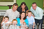 Joan and Raymond Clifford Dromin, Milltown with their sons Marc, Darragh and Shane celebrate the christening of their son Oisin with his god parents Breda O'Sullivan and Michael Mangan (right) in the Dromhall Hotel Killarney on Sunday