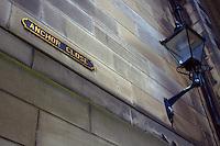 Anchor Close, one of the historic closes on the Royal Mile, Edinburgh, Lothian