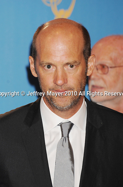 LOS ANGELES, CA. - August 29: Anthony Edwards poses in the press room at the 62nd Annual Primetime Emmy Awards at Nokia Theatre Live L.A. on August 29, 2010 in Los Angeles, California.