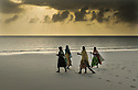 woman workers on the beach in zanzibar