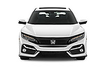 Car photography straight front view of a 2020 Honda Civic-Hatchback Sport-Touring 5 Door Hatchback Front View
