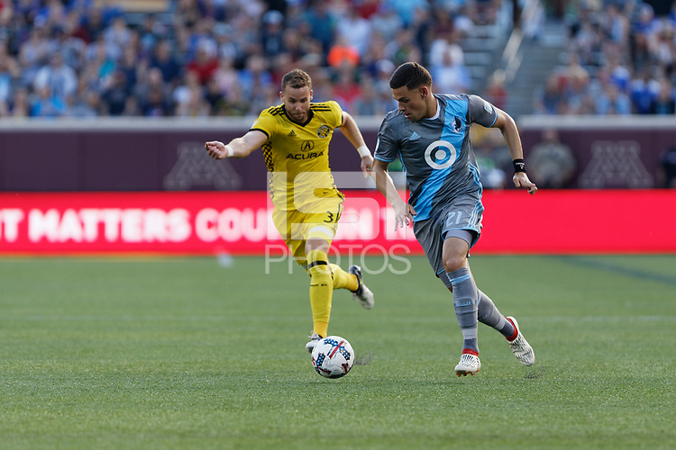 Minneapolis, MN - Tuesday, July 4, 2017: Minnesota United FC played Columbus Crew SC in a Major League Soccer (MLS) game at TCF Bank stadium. Final score Minnesota United 0, Columbus Crew 1