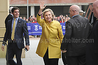 Swansea University, South Wales, UK, Saturday 14th Oct 2017 - <br /> <br /> Hillary Rodham Clinton was today in attendance at Swansea University, where she received an Honorary Doctorate of Laws.<br /> <br /> Hillary Clinton arriving at the University<br /> <br /> Jeff Thomas Photography -  www.jaypics.photoshelter.com - <br /> e-mail swansea1001@hotmail.co.uk -<br /> Mob: 07837 386244 -