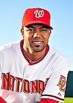 28 February 2010: Washington Nationals outfielder Willy Taveras poses for his Spring Training photo at Space Coast Stadium in Viera, Florida. Mandatory Credit: Ed Wolfstein Photo