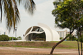 The Coluna Prestes Memorial museum, by architect Oscar Niemeyer. City of Palmas, Tocantins State, Brazil. Photo © Sue Cunningham, pictures@scphotographic.com 26th October 2015