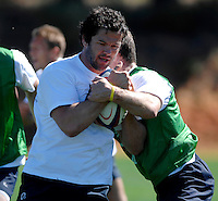 Photo: Richard Lane...England Rugby Training Camp, Portugal. 04/07/2007. ..England's Andy Farrell, wearing a 'Find Madeleine' tie shirt in support of Madeleine McCann.