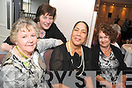 TEA DANCE: Breda Nash, Mary Neill, Elaine Medeiros Krout and Mairead Robinson who are part of the Black Water Womens Group who were attending the tea dance in the Kenmare Bay hotel on Sunday.