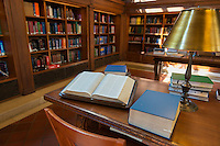 Open book in Rose main reading room of New York Public Library