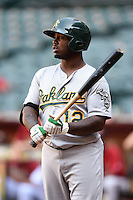 Oakland Athletics outfielder B.J. Boyd (12) during an Instructional League game against the Arizona Diamondbacks on October 10, 2014 at Chase Field in Phoenix, Arizona.  (Mike Janes/Four Seam Images)