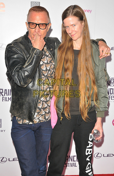 Bruce Labruce and guest at the &quot;Bees Make Honey&quot; Raindance Film Festival UK film premiere, Vue West End cinema, Leicester Square, London, England, UK, on Saturday 23 September 2017.<br /> CAP/CAN<br /> &copy;CAN/Capital Pictures