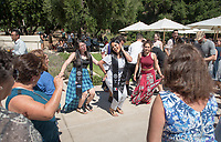 Latinx Graduation Celebration at Thorne Lawn/Patio, May 20, 2017.<br /> Cultural Graduation Celebrations are an opportunity for smaller groups to come together and acknowledge students' accomplishments with family and friends while celebrating the rich diversity of our campus. The Office of Intercultural Affairs partners with cultural organizations to coordinate the events.<br /> (Photo by Marc Campos, Occidental College Photographer)
