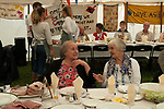 Harvest Home, East Brent, Somerset Uk 2018. Harvest Home celebrates the end of the harvest with a village communal meal. East Brent&rsquo;s Harvest Home has been taking place since 1857. It was started by Archdeacon Denison, the vicar for 51 years of St Mary's Church of the Blessed Virgin together with Churchwarden John Higgs. It is the oldest Harvest Home in Somerset.<br />