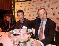 17-2-07,Netherlands, Roterdam, Tennis, ABNAMROWTT, Draw with Joop Albeda, Richard Krajicek,Robin Haase and Raemon Sluiter