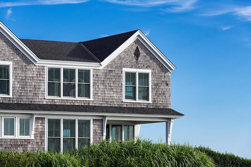 Cape Cod style beach house detail.