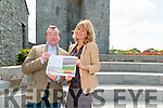 "Book Launch : Dr. Declan Downey & Nesta Fitzgerald pictured at Listowel Castle to announce the launch of their book ""An Architectural Tour of North & West Kerry"" at the Seanchai Centre, Listowel on Friday evening 14th of August."