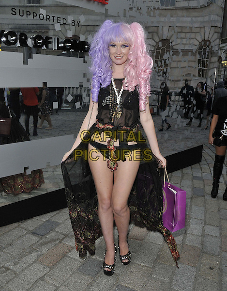 LONDON, ENGLAND - SEPTEMBER 14: Kitty Brucknell attends the Fareemah Fashions S/S15 presentation, LFW Day 3, BFC Showspace, Somerset House, The Strand, on Sunday September 14, 2014 in London, England, UK. <br /> CAP/CAN<br /> &copy;Can Nguyen/Capital Pictures