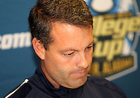 HOOVER, AL - DECEMBER 08, 2012:    Brian Weise of Georgetown University at a news conference before the NCAA 2012 Men's College Cup final , at Regions Park, in Hoover , AL, on Friday, December 07, 2012.