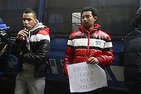 Roma, 27 Dicembre 2013<br /> Protesta delle associazioni dei migranti e dei movimenti per l'abitare contro i CIE davanti la sede nazionale del Partito Democratico.