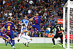 Luis Suarez in action during la Liga game between FC Barcelona against RCD Espanyol at Camp Nou