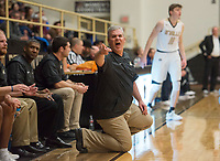 NWA Democrat-Gazette/CHARLIE KAIJO Bentonville High School head coach Dick Rippee reacts during a basketball game on Friday, January 12, 2018 at Bentonville High School in Bentonville.