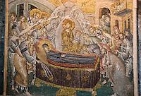 Europe/Turquie/Istanbul :  Dormition de la vierge nef mosaique, Musée Kariye, Ancienne  église Saint-Sauveur