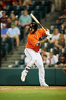 Richmond Flying Squirrels first baseman K.C. Hobson (17) at bat during a game against the Trenton Thunder on May 11, 2018 at The Diamond in Richmond, Virginia.  Richmond defeated Trenton 6-1.  (Mike Janes/Four Seam Images)