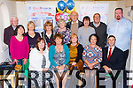 Celebrating DeafHear.ie 50th anniversary in their Killlarney office on Friday were front row l-r: Maura O'Leary, Aileen Curtayne, Jo Lambe, Paul Donohoe, Niall Keane. back row: Pat Harty, Eileen MacMonagle, Mary fell, Sheila Kerins, una Murphy, Bridie Mcgrath, Sean Coffey, Alex O'Shea and Fergus Lynch