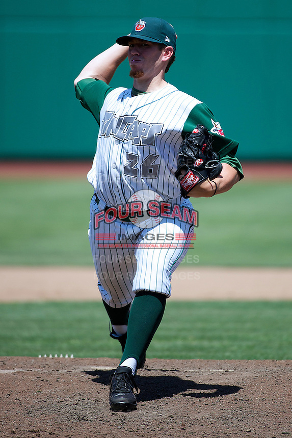 Fort Wayne TinCaps Johnny Barbato #26 during a game against the Lansing Lugnuts at Parkview Field on June 27, 2012 in Fort Wayne, Indiana.  Fort Wayne defeated Lansing 3-2.  (Mike Janes/Four Seam Images)