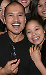 "Jon Jon Briones and Eva Noblezada during The Opening Night Actors' Equity Gypsy Robe Ceremony honoring Catherine Ricafort for the New Broadway Production of  ""Miss Saigon""  at the Broadway Theatre on March 23, 2017 in New York City"
