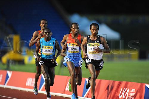 22.06.2012 Birmingham, ENGLAND : Mens 10,000m Final, Kenenisa Bekele in action during the Aviva Trials at the Alexandra Stadium...