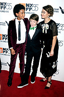 Jaden Michael, Oakes Fegley und Millicent Simmonds bei der Premiere von 'Wonderstruck' auf dem 55. New York Film Festival in der Alice Tully Hall. New York, 07.10.2017