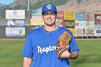 Joe Broussard (21) of the Ogden Raptors poses for a photo during media day on June 14, 2014 at Lindquist Field in Ogden, Utah. (Stephen Smith/Four Seam Images)