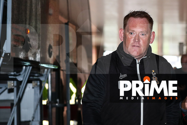 Bradford City head coach David Hopkin arrives ahead of his first game in charge of Bradford City during the Sky Bet League 1 match between Blackpool and Bradford City at Bloomfield Road, Blackpool, England on 8 September 2018. Photo by Thomas Gadd.