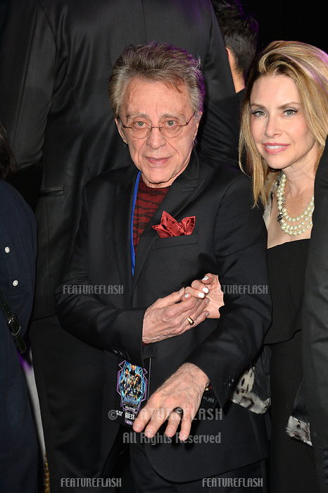 Frankie Vallie &amp; Jacqueline Jacobs at the world premiere for &quot;Black Panther&quot; at the Dolby Theatre, Hollywood, USA 29 Jan. 2018<br /> Picture: Paul Smith/Featureflash/SilverHub 0208 004 5359 sales@silverhubmedia.com
