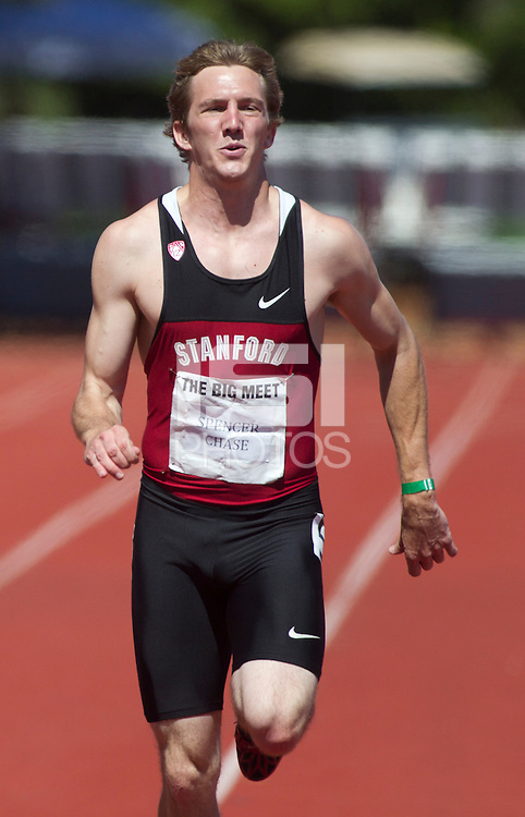 Stanford, CA., April 20, 2013,--Stanford's Spencer Chase runs in the 119 Big Meet at Cobb Track and Angell Field at Stanford University.
