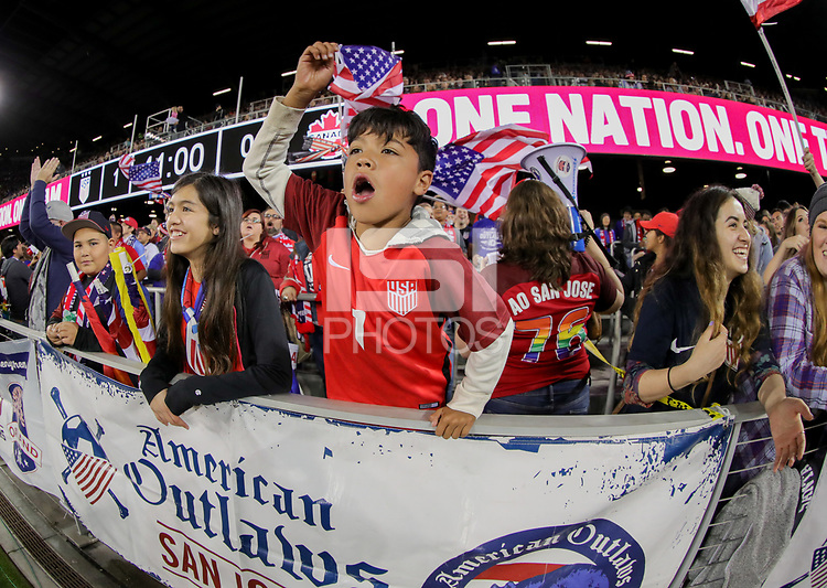 San Jose, CA - Sunday November 12, 2017: American Outlaws, USA fans during an International friendly match between the Women's National teams of the United States (USA) and Canada (CAN) at Avaya Stadium.