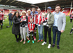 Sheffield United's Daniel Lafferty and his family during the League One match at Bramall Lane, Sheffield. Picture date: April 30th, 2017. Pic David Klein/Sportimage