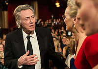 Christopher Walken speaks with Oscar&reg;-nominee Meryl Streep during the live ABC Telecast of the 90th Oscars&reg; at the Dolby&reg; Theatre in Hollywood, CA on Sunday, March 4, 2018.<br /> *Editorial Use Only*<br /> CAP/PLF/AMPAS<br /> Supplied by Capital Pictures